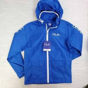 HUK Fishing Blue Rain & Wind Breaker